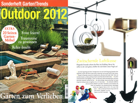 "Wohn!Design - Sonderheft: Outdoor 2012, S.14, ""Zwitschernde..."""