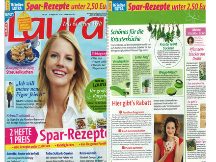 Presse Laura August 2012 Cover - Artikel