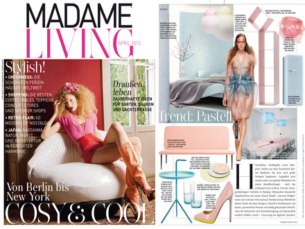 Madame - April 2013 Cover + Artikel