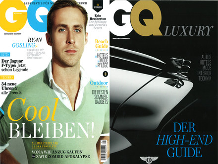 GQ Luxury, Juli 2013, S.12: Cover + Artikel