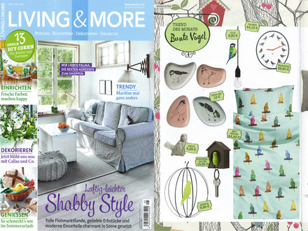 "Living & More, April 2015, S. 52: ""Bunte Vögel"""