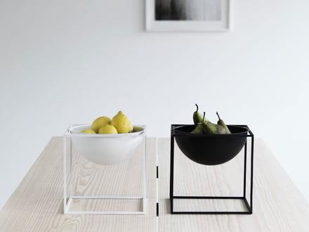 obstschale aus holz edelstahl glas. Black Bedroom Furniture Sets. Home Design Ideas