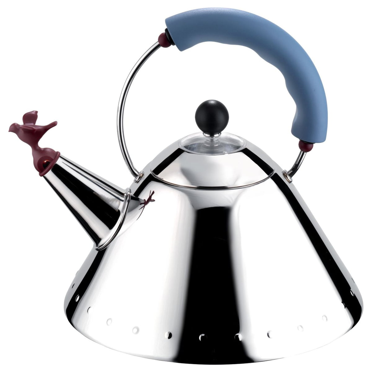 Alessi - Wasserkessel 9093 Bird Kettle, poliert / hellblau   Küche und Esszimmer > Küchengeräte > Wasserkocher   Alessi