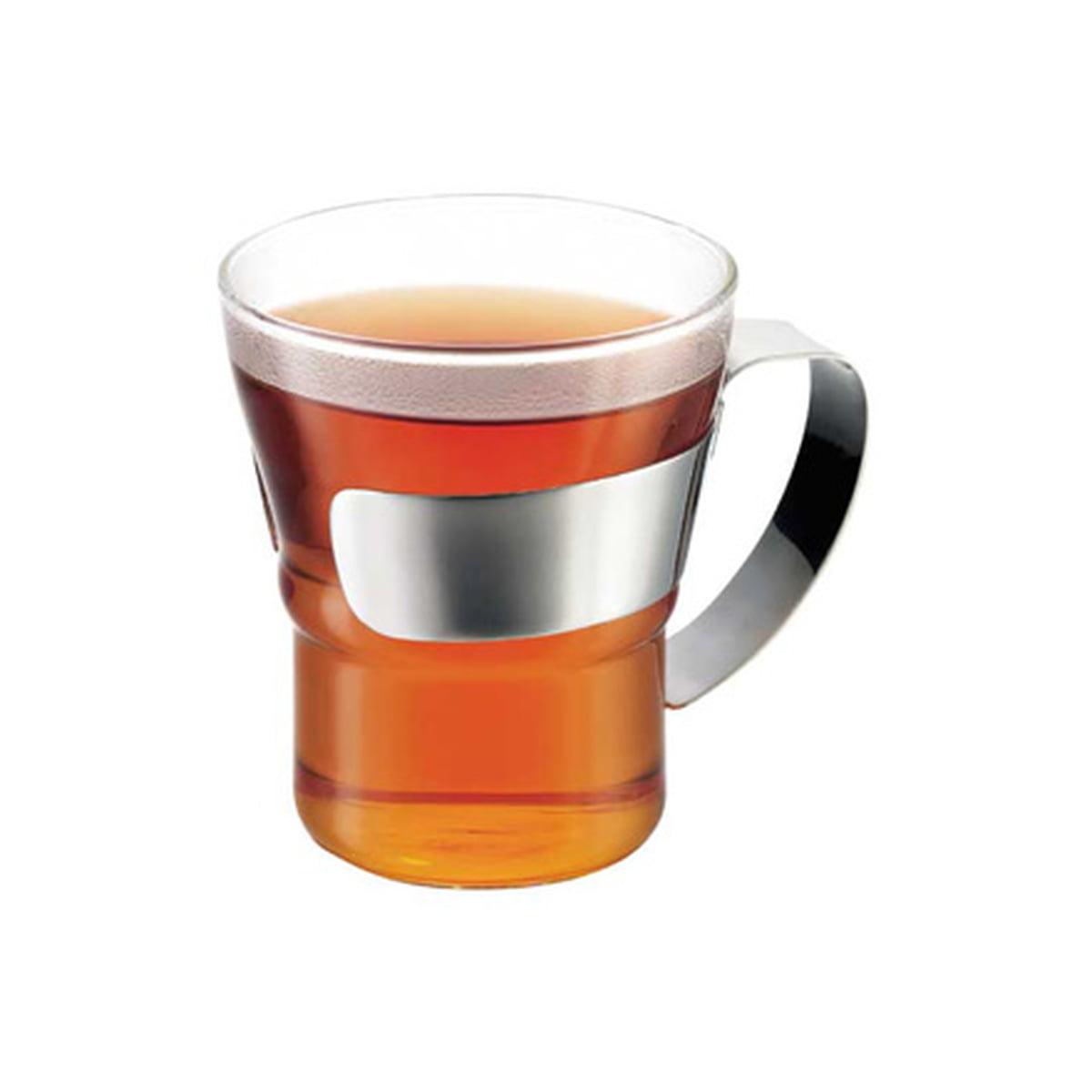 Assam Teeglas mit Edelstahlgriff (2er-Set)