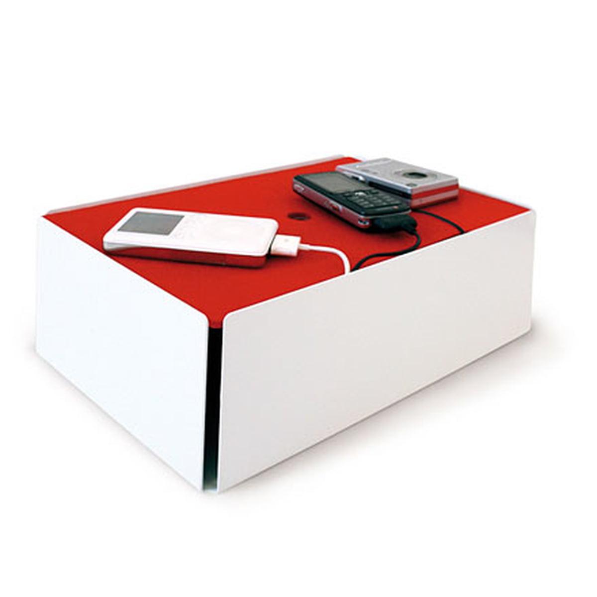 Konstantin Slawinski - Charge-Box, weiß / Filz rot