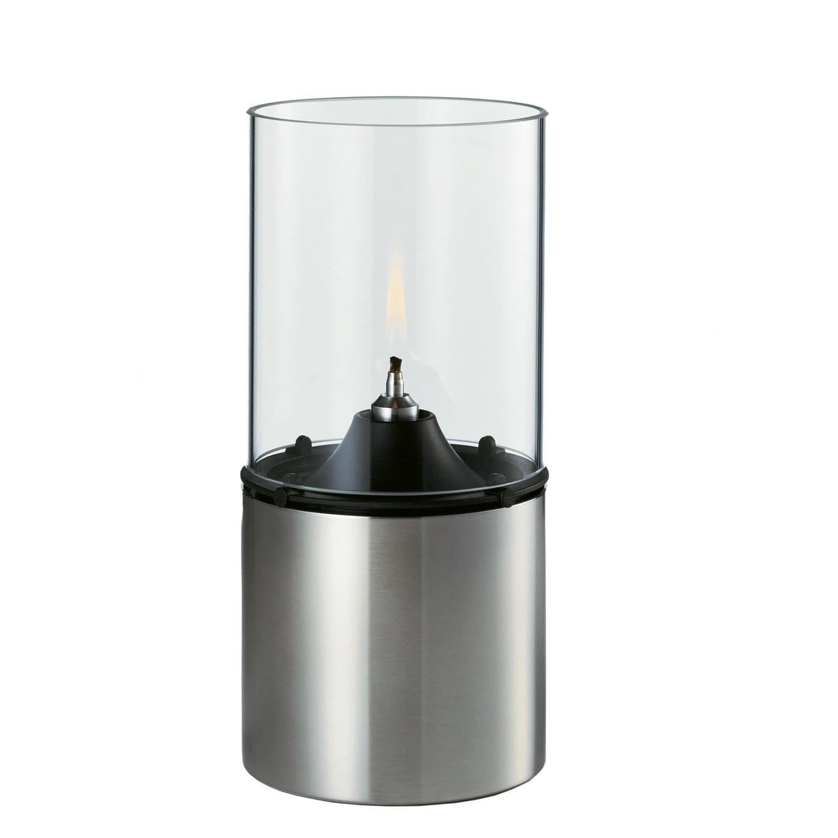 Öllampe 1005 mit Glasschirm, klar