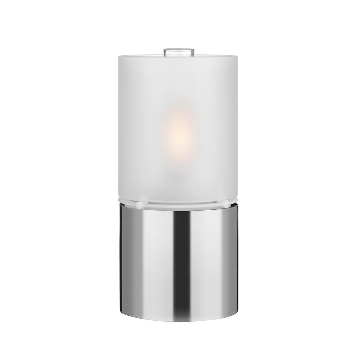 Öllampe 1006 mit Glasschirm, satiniert