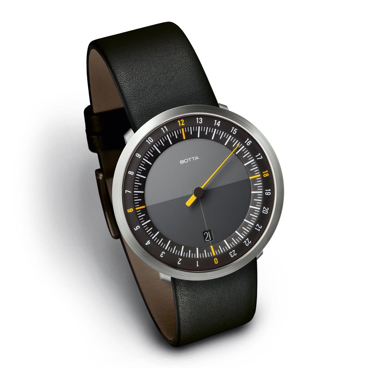 Botta-Design - Uno 24, schwarz / Lederarmband
