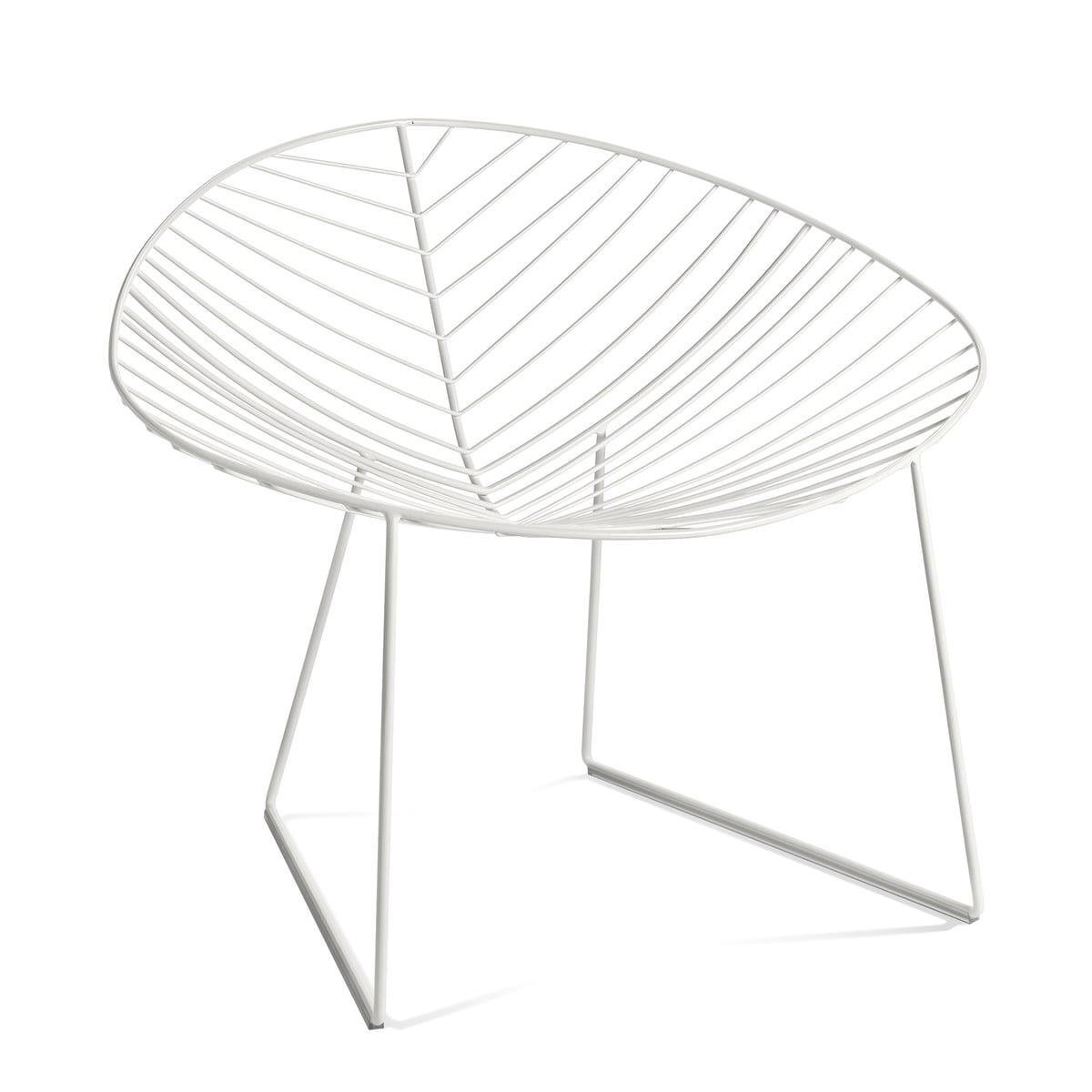Leaf Lounge-Sessel, weiß