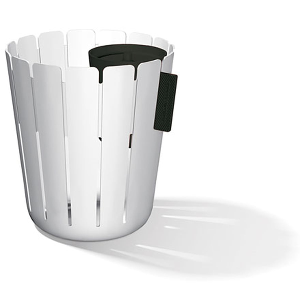 Konstantin Slawinski - SL17 Basketbin Mülleimer-System, weiß / schwarz (2 Tlg.)