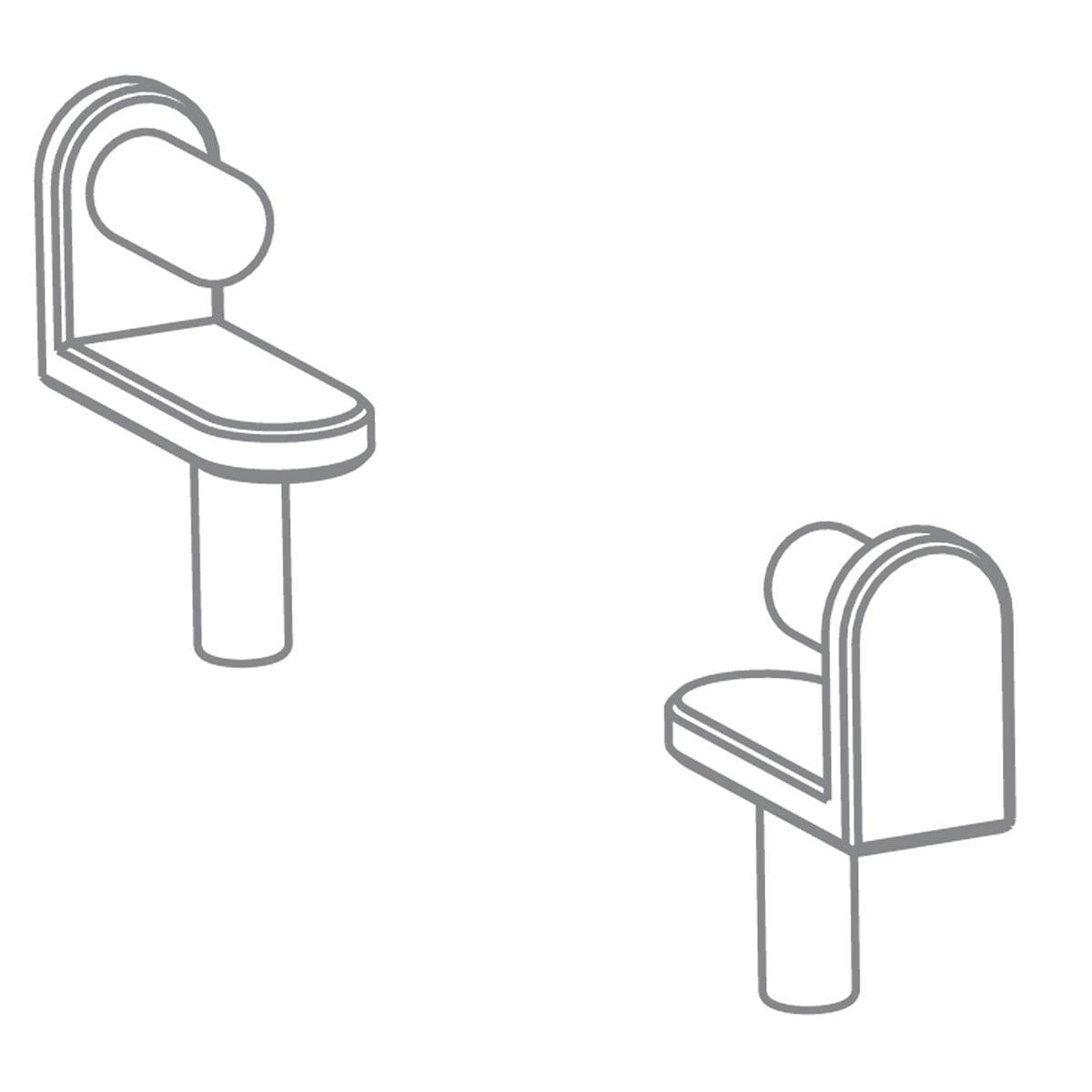 Pure Position - Growing Table Halter für Zeichenrolle, HPL weiß