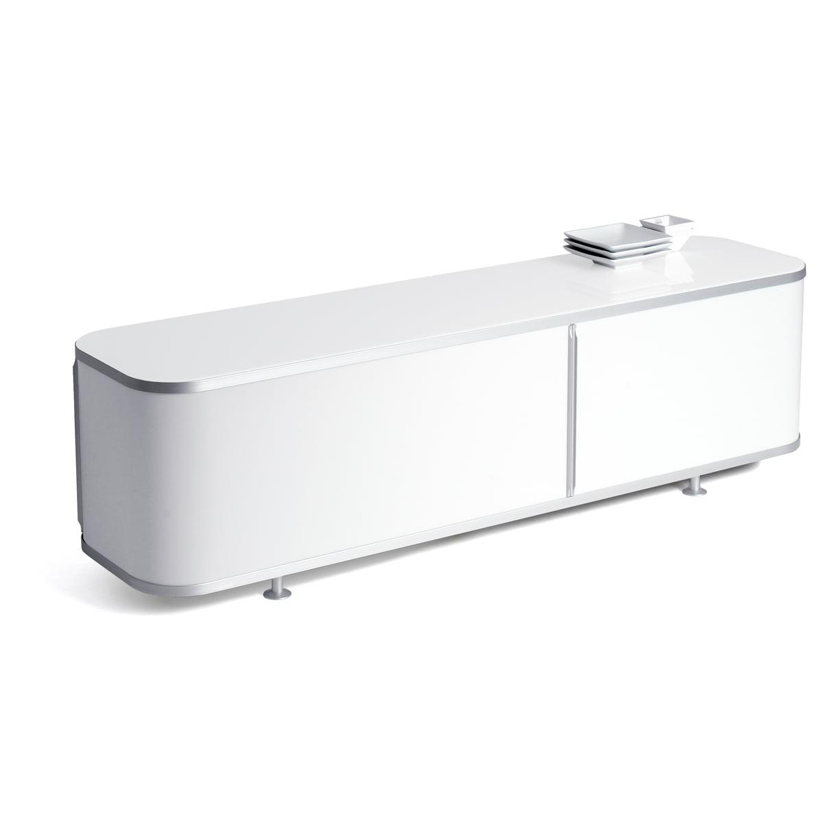 18 Sideboard, 148 x 44 cm, weiß / opal
