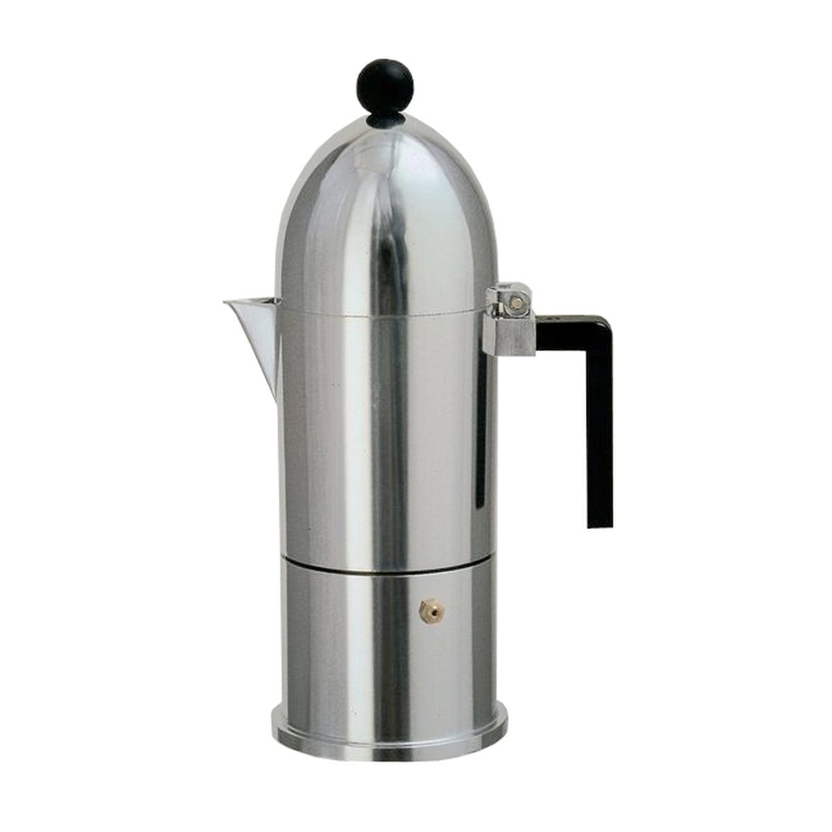 A di Alessi - La Cupola Espressomaschine 9095, 15 cl, aluschwarz | Küche und Esszimmer > Kaffee und Tee > Espressomaschinen | Alessi