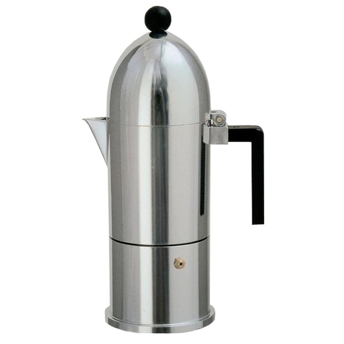 A di Alessi - La Cupola Espressomaschine 9095, 30 cl, aluschwarz