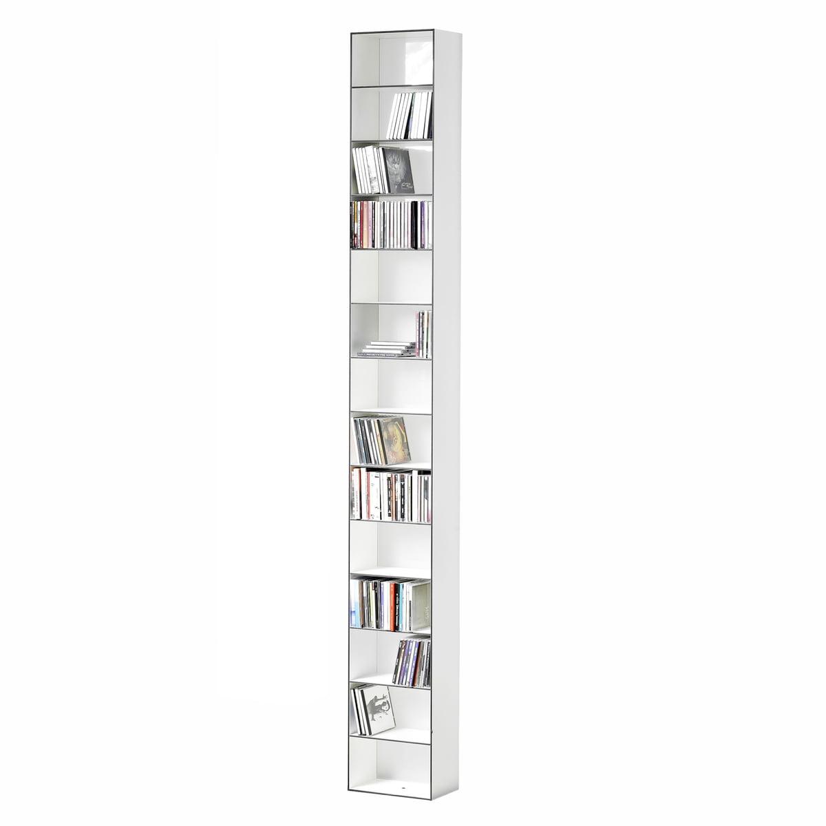 25 CD-Regal, 26 x 15 cm, weiß