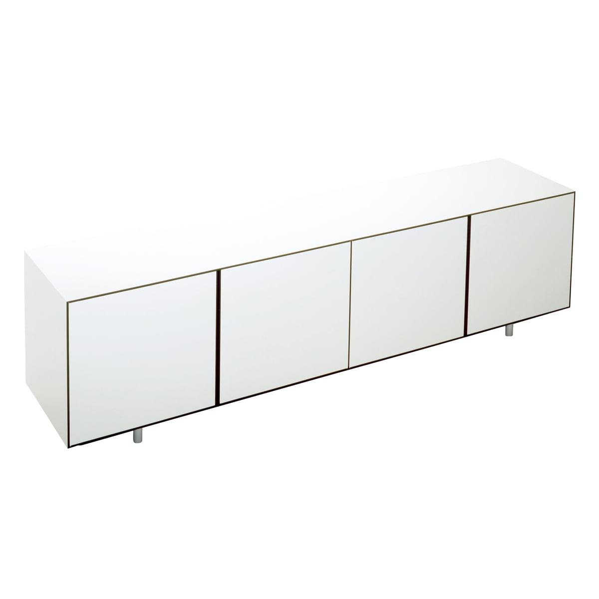 36 Sideboard, 4 Türen, HPL weiß