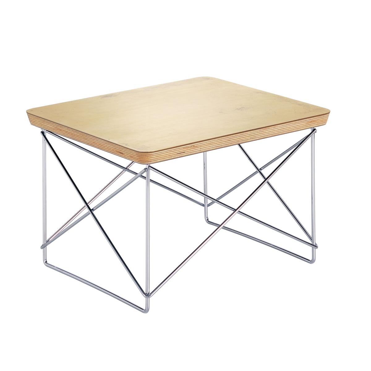 Eames Occasional Table LTR, Blattgold / chrom