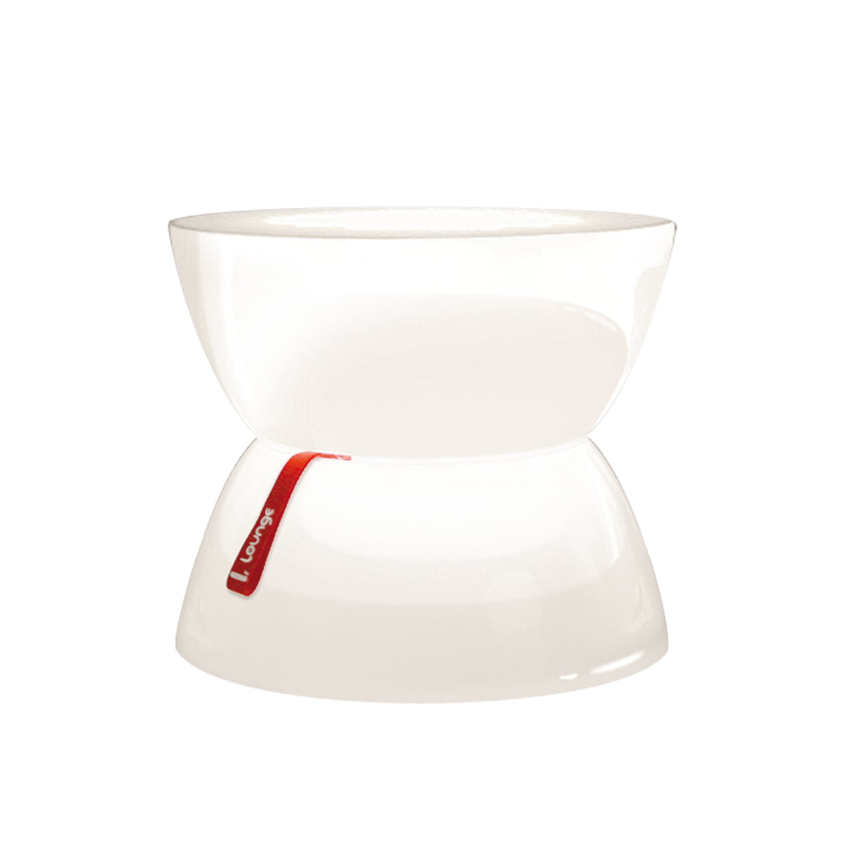 Lounge Tisch Mini, transluzent-weiß