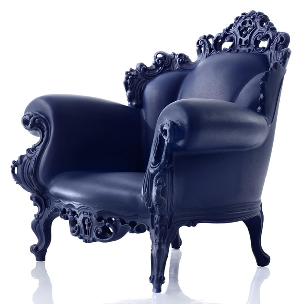 Magis Proust Sessel, Schwarz Seitlich