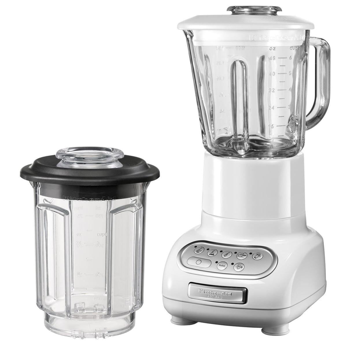KitchenAid - Artisan Standmixer mit 1.5 l Glasbehälter und 0.75 l Küchenmixbehälter, weiß | Küche und Esszimmer > Küchengeräte > Rührgeräte und Mixer | Kitchen Aid