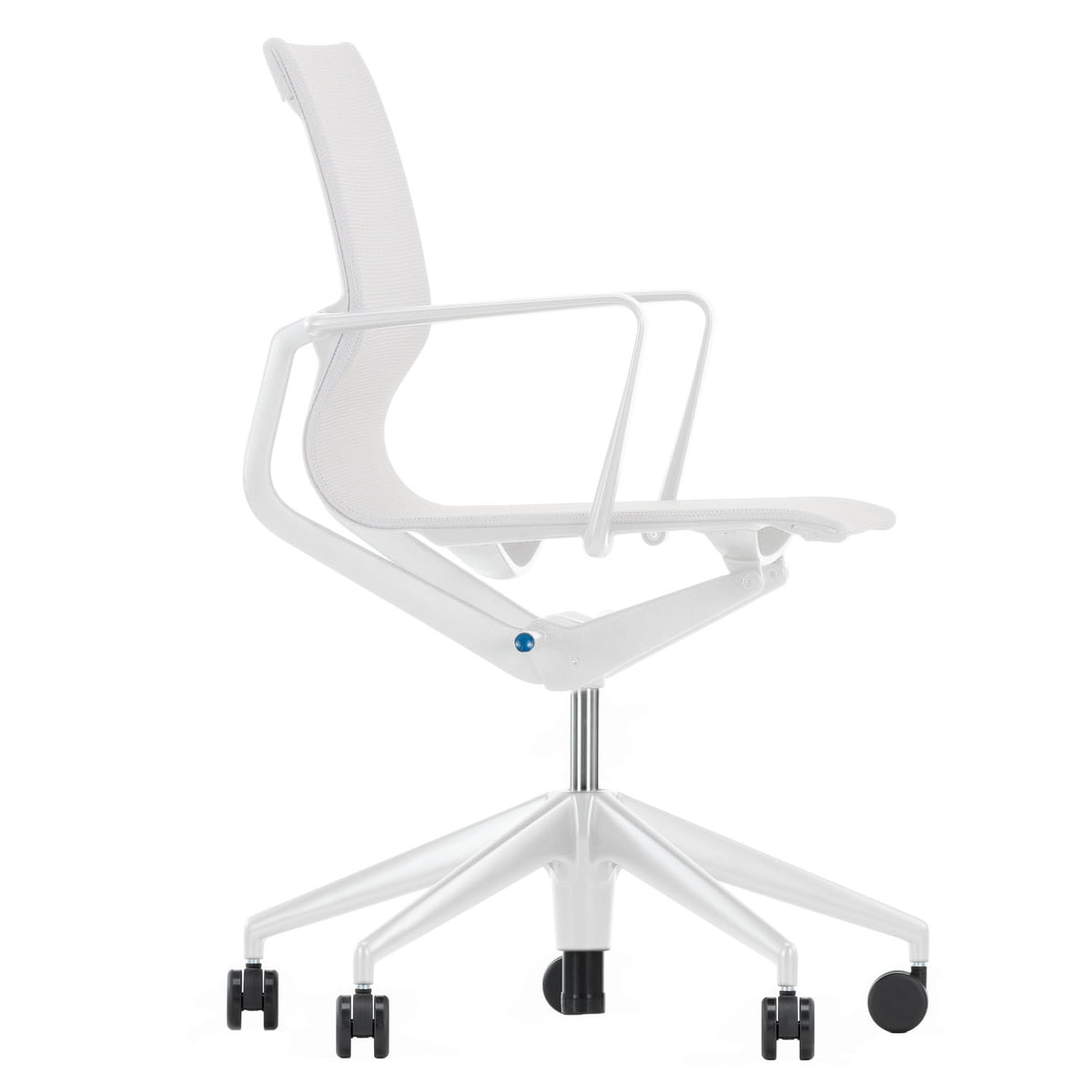 Physix Bürodrehstuhl, silber / soft grey, harte Rollen für Teppichböden