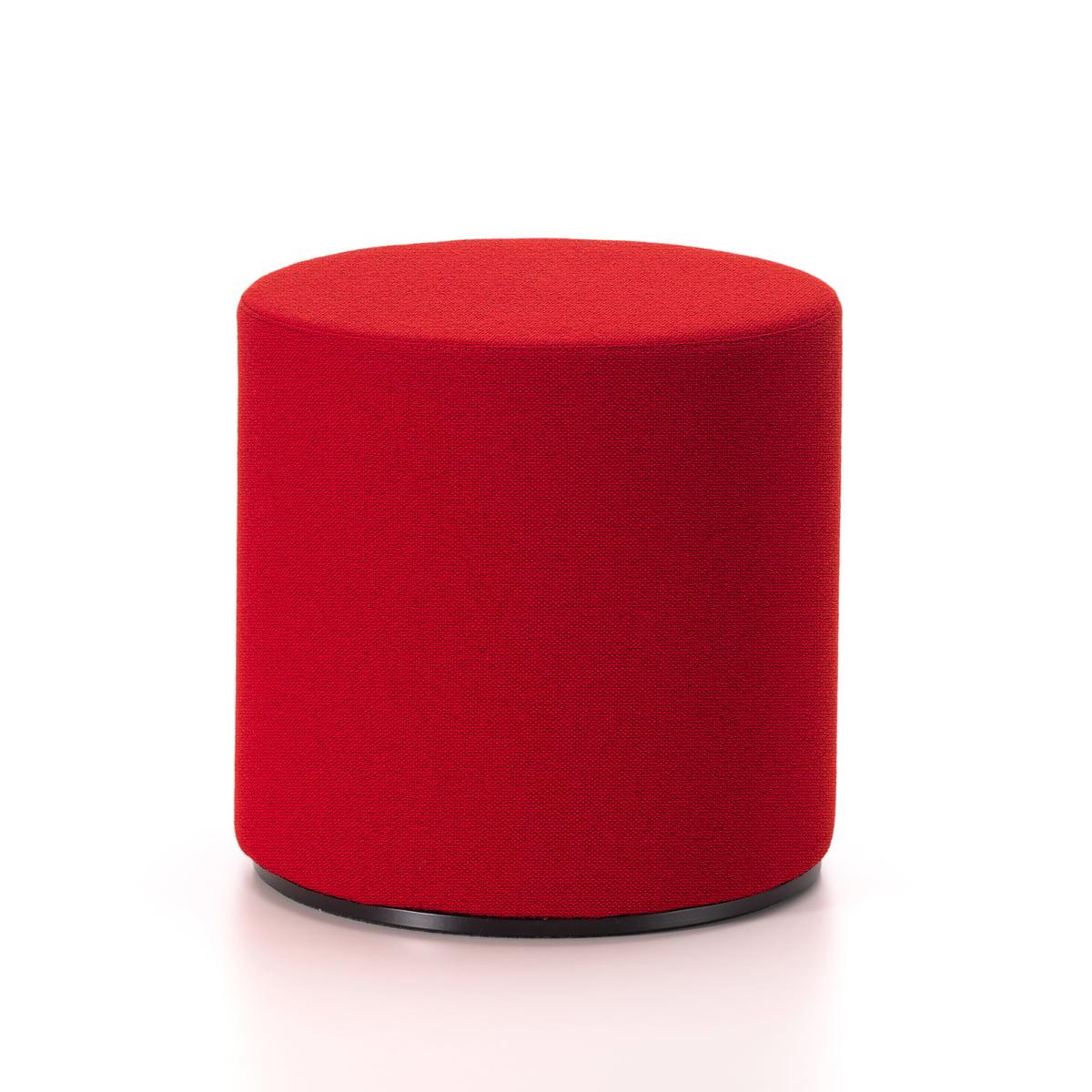 Visiona Stool, Bezug Maya, rot / dunkelrot