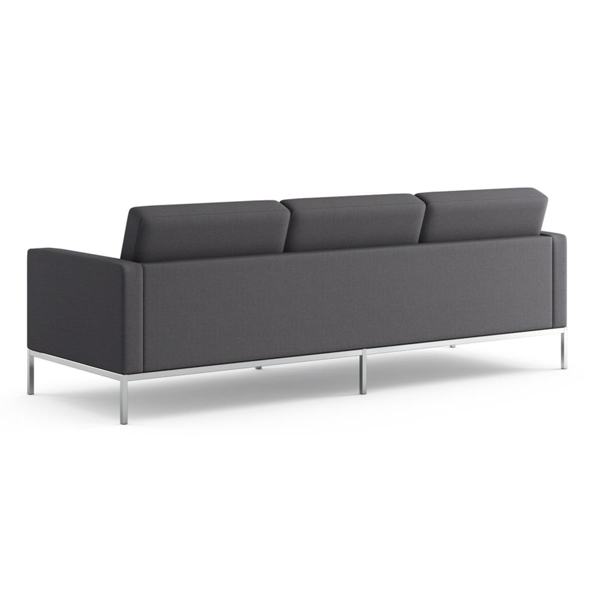 Knoll florence sofa 3 sitzer bezug hopsack charcoal