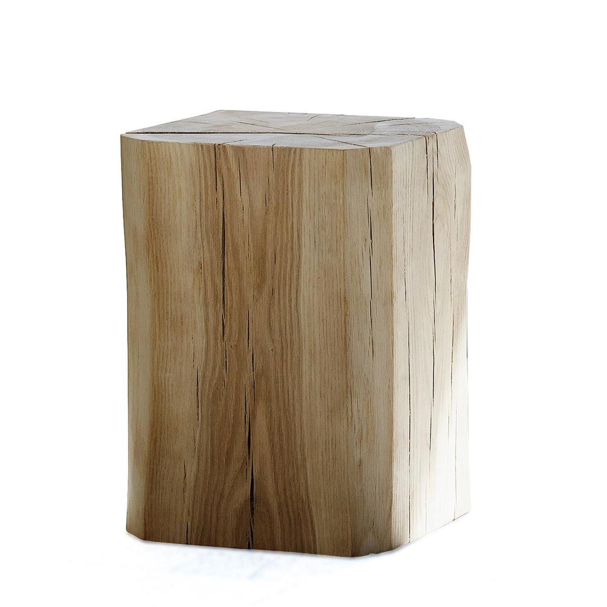 Block Hocker quadratisch 45 x 45 x 46 cm, Eiche
