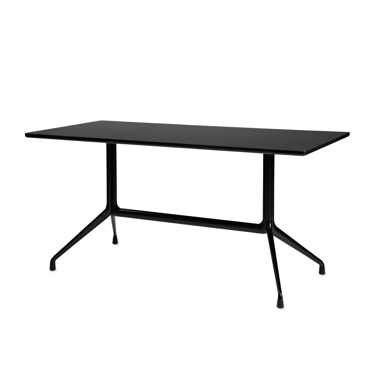 About A Table AAT 10 Esstisch, 160 x 80 cm, schwarz / schwarz