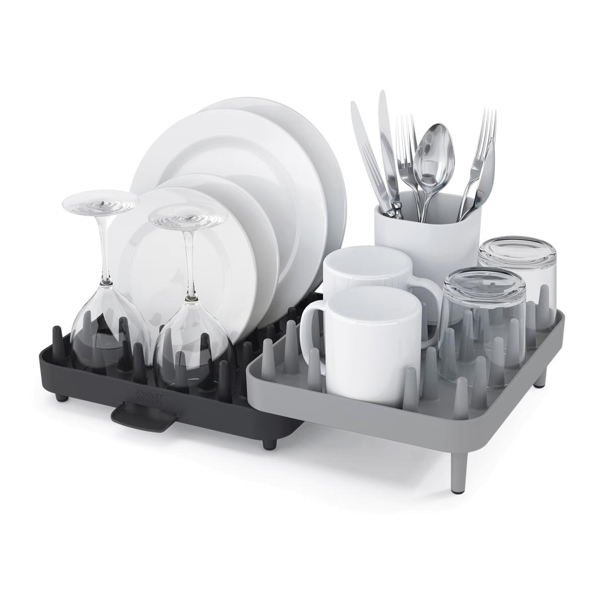 Connect Abtropfgestell (3er-Set), weiß-grau