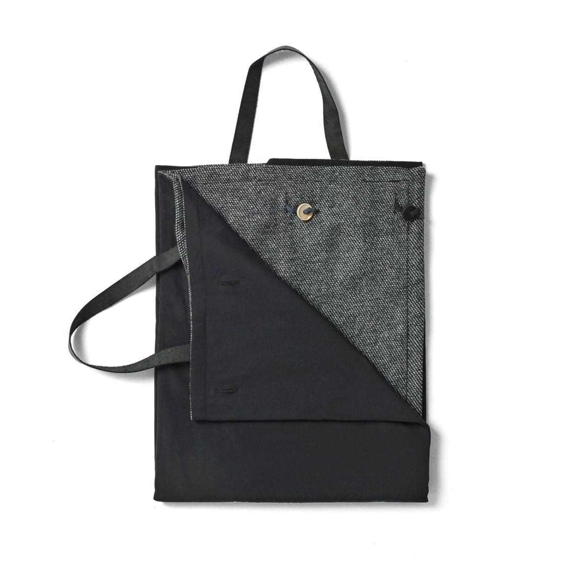 Picknickdecke 100 x 120 cm, schwarz / dunkelgrau
