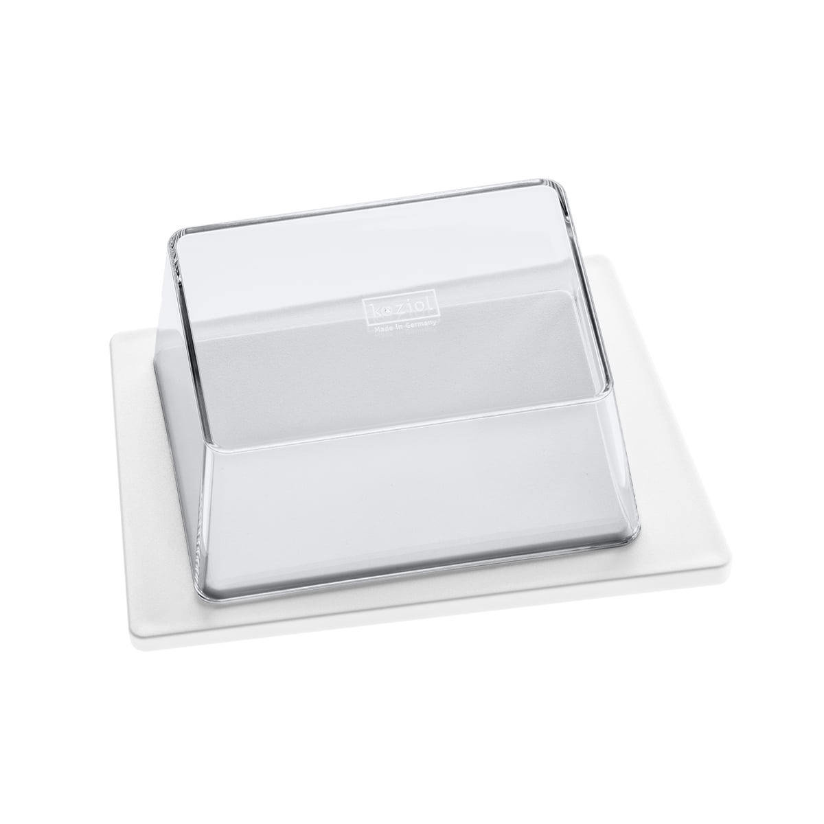 Kant Butterdose, weiß / transparent