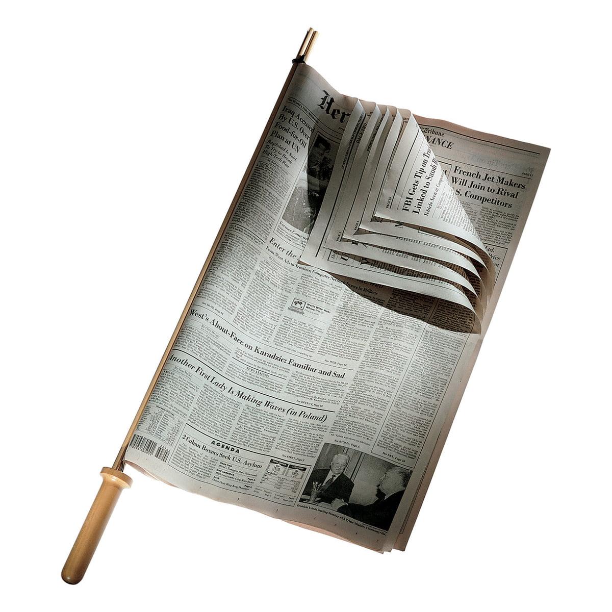 CO1096 Zeitungshalter, Kirschbaumholz