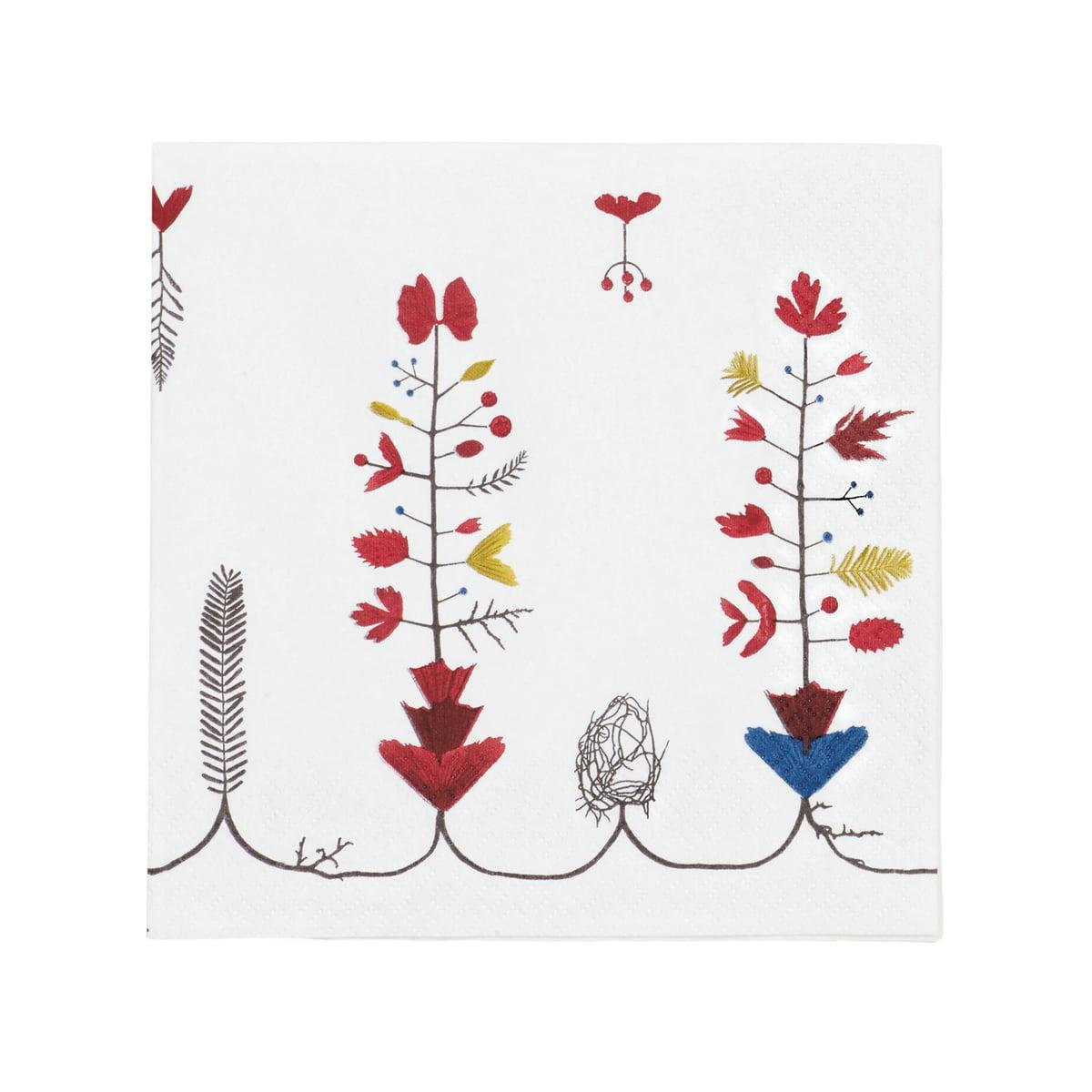 Sarjaton Papier-Serviette 33 x 33 cm, Varpu weiß