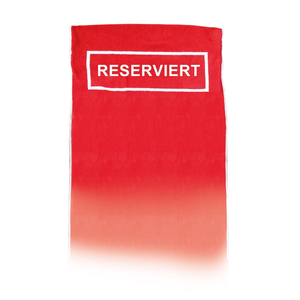 "Strandtuch ""Reserviert"", rot"