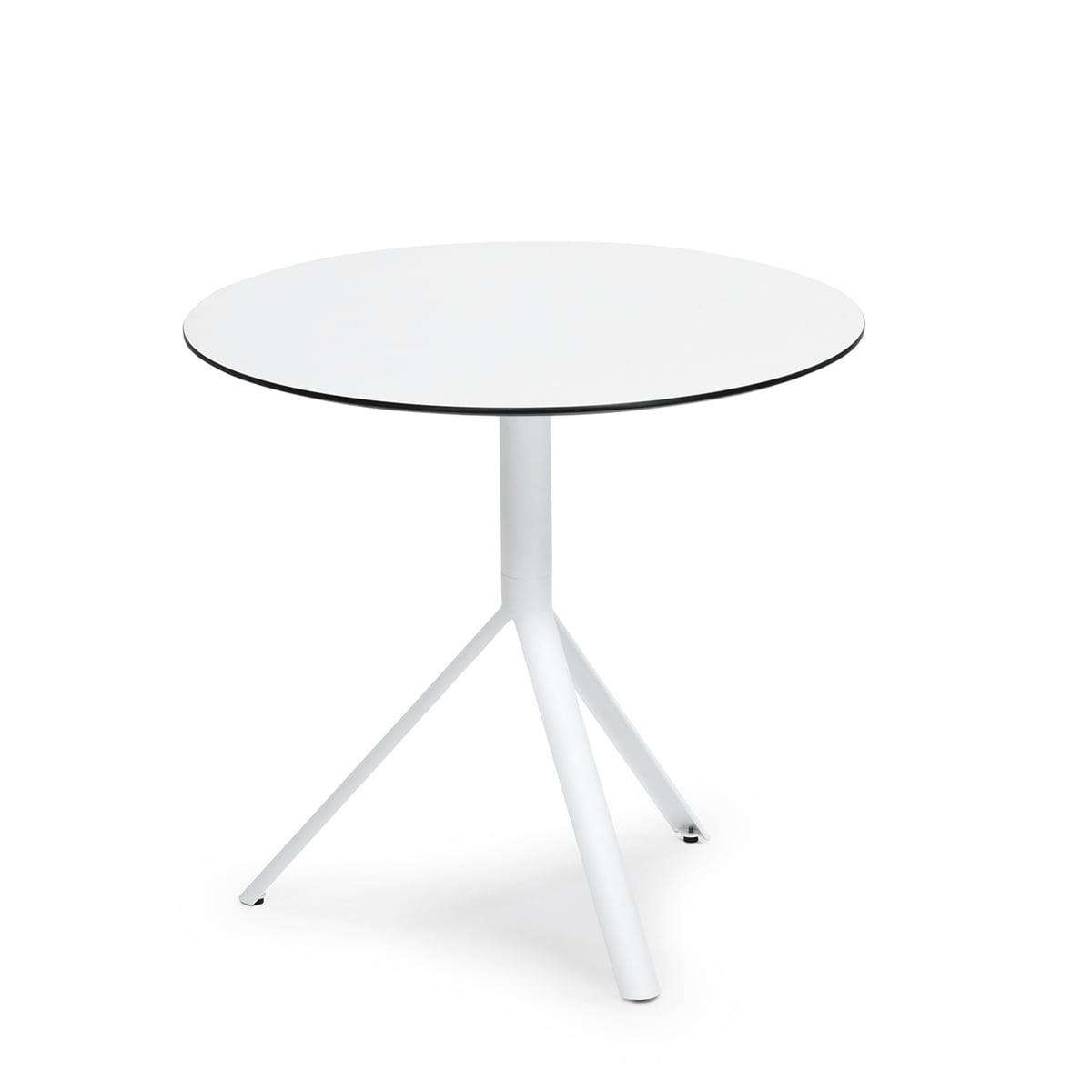 Tischplatte rund weiß  Runder Trio Bistrotisch von Weishäupl kaufen