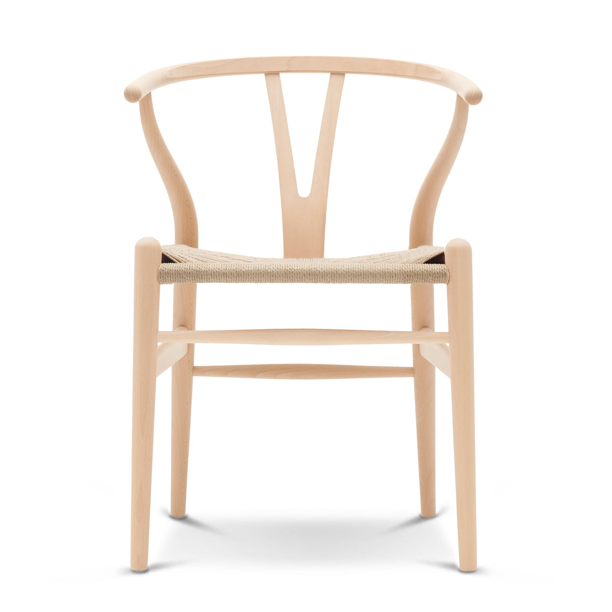 Carl Hansen - CH24 Wishbone Chair, Buche geseift / Naturgeflecht