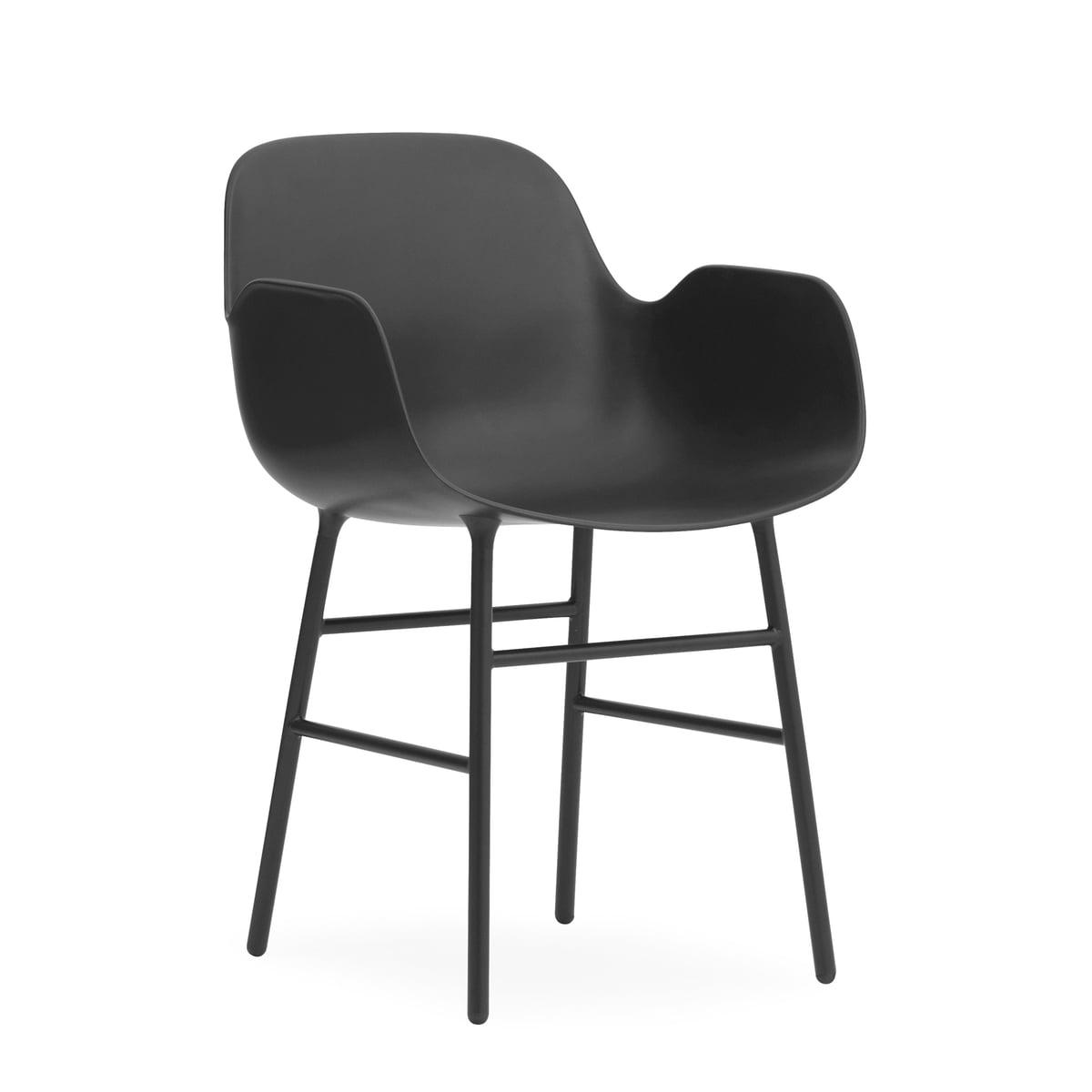 Normann Copenhagen - Form Armlehnstuhl, Gestell Stahl / schwarz   Küche und Esszimmer > Stühle und Hocker   Normann Copenhagen