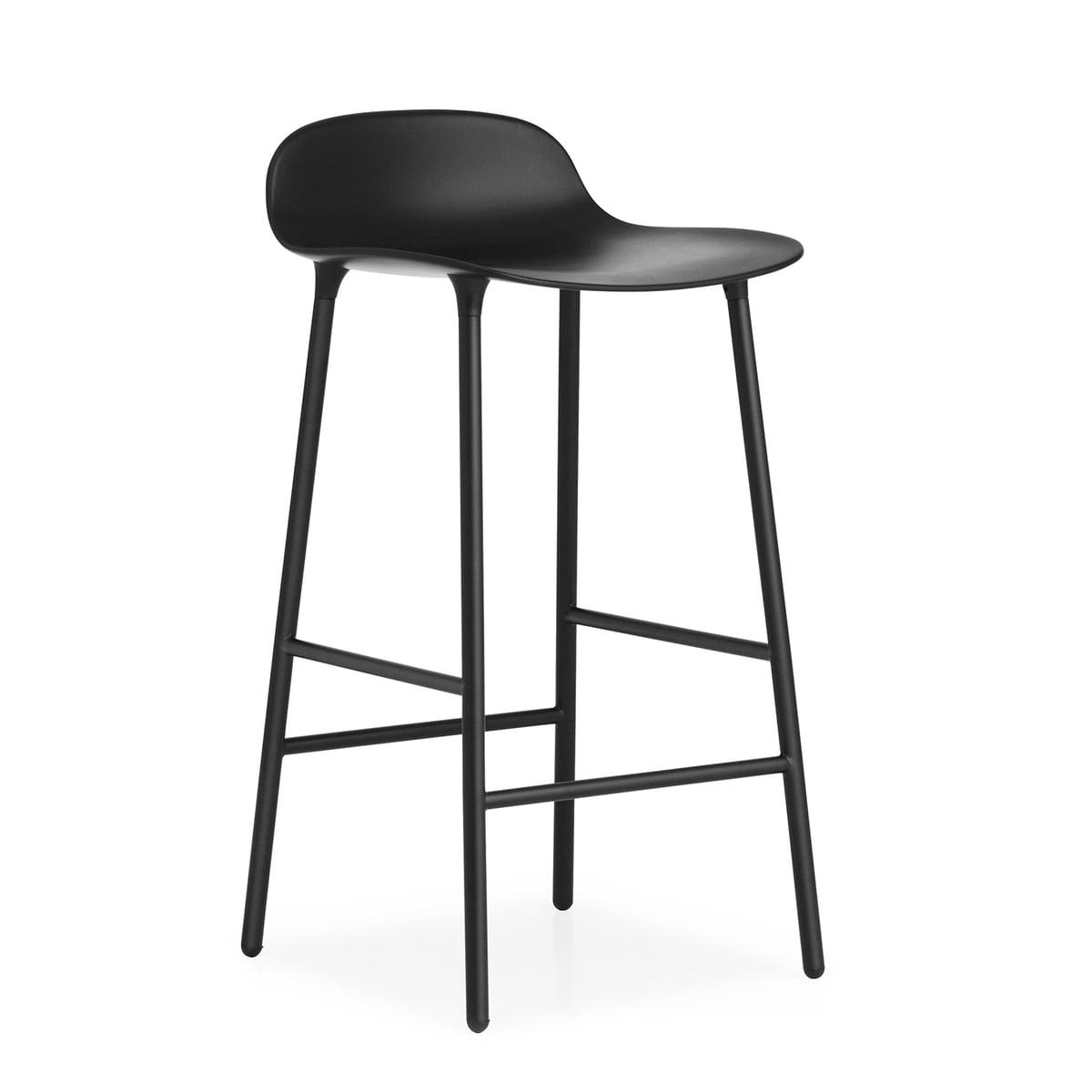 form barstuhl von nch mit stahlbeinen. Black Bedroom Furniture Sets. Home Design Ideas