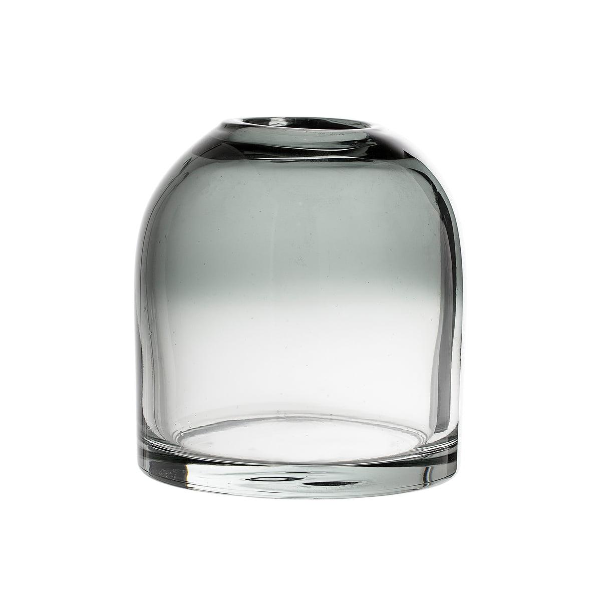 Bloomingville - Glas-Vase H 13 cm, grau