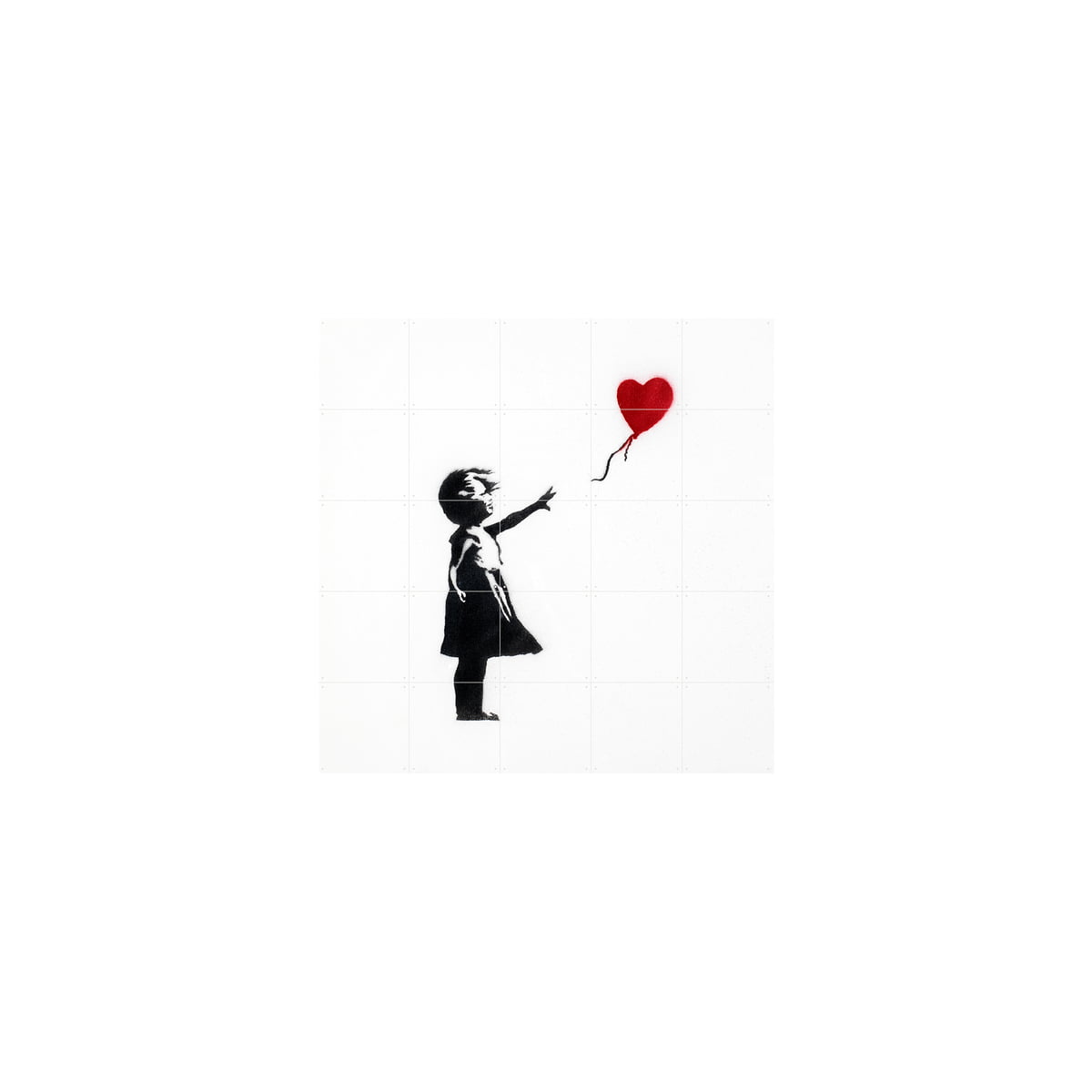 IXXI - Girl with Balloon (Banksy), 100 x 100 cm