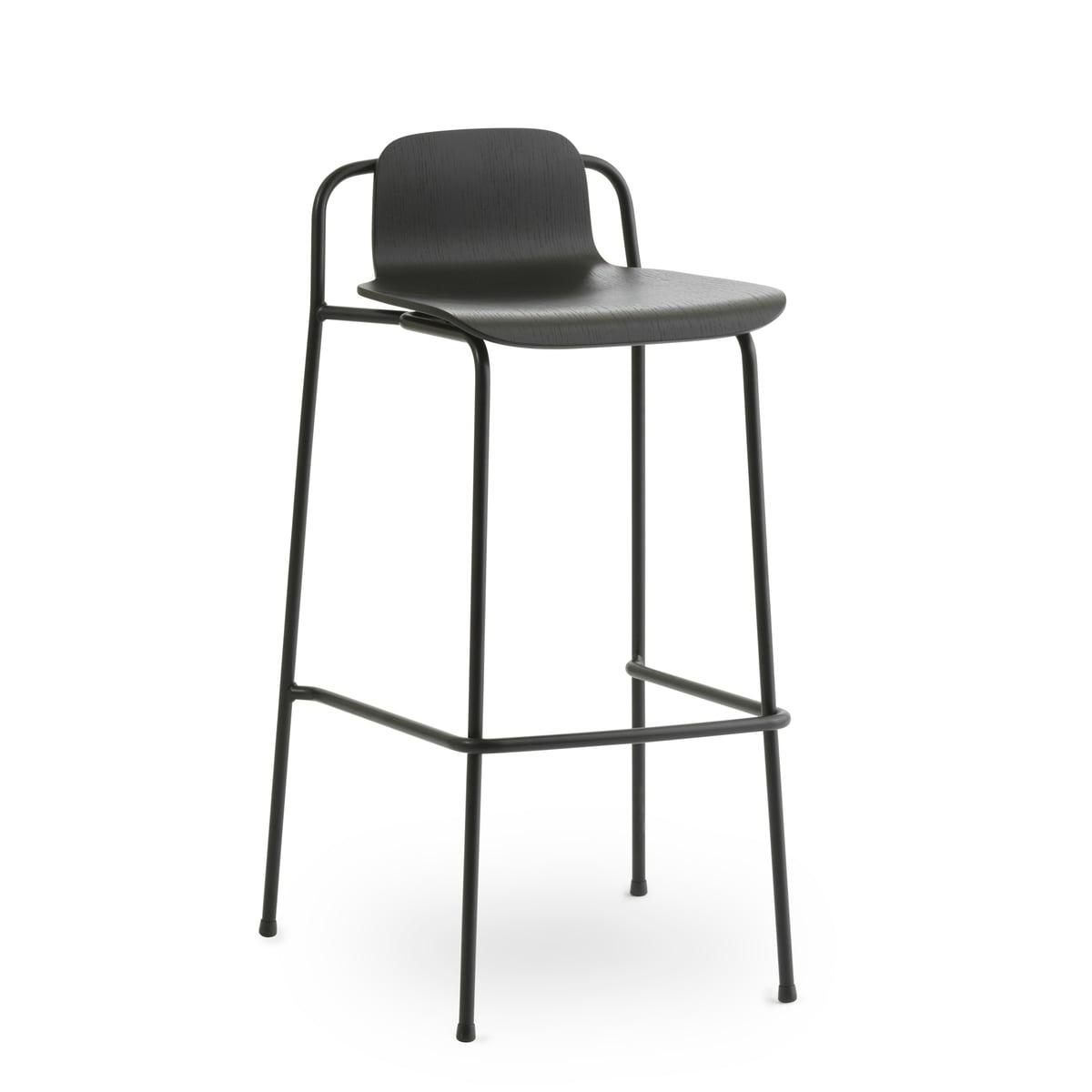 Normann Copenhagen - Studio Barhocker 75 cm, schwarz / schwarz | Küche und Esszimmer > Bar-Möbel | Normann Copenhagen