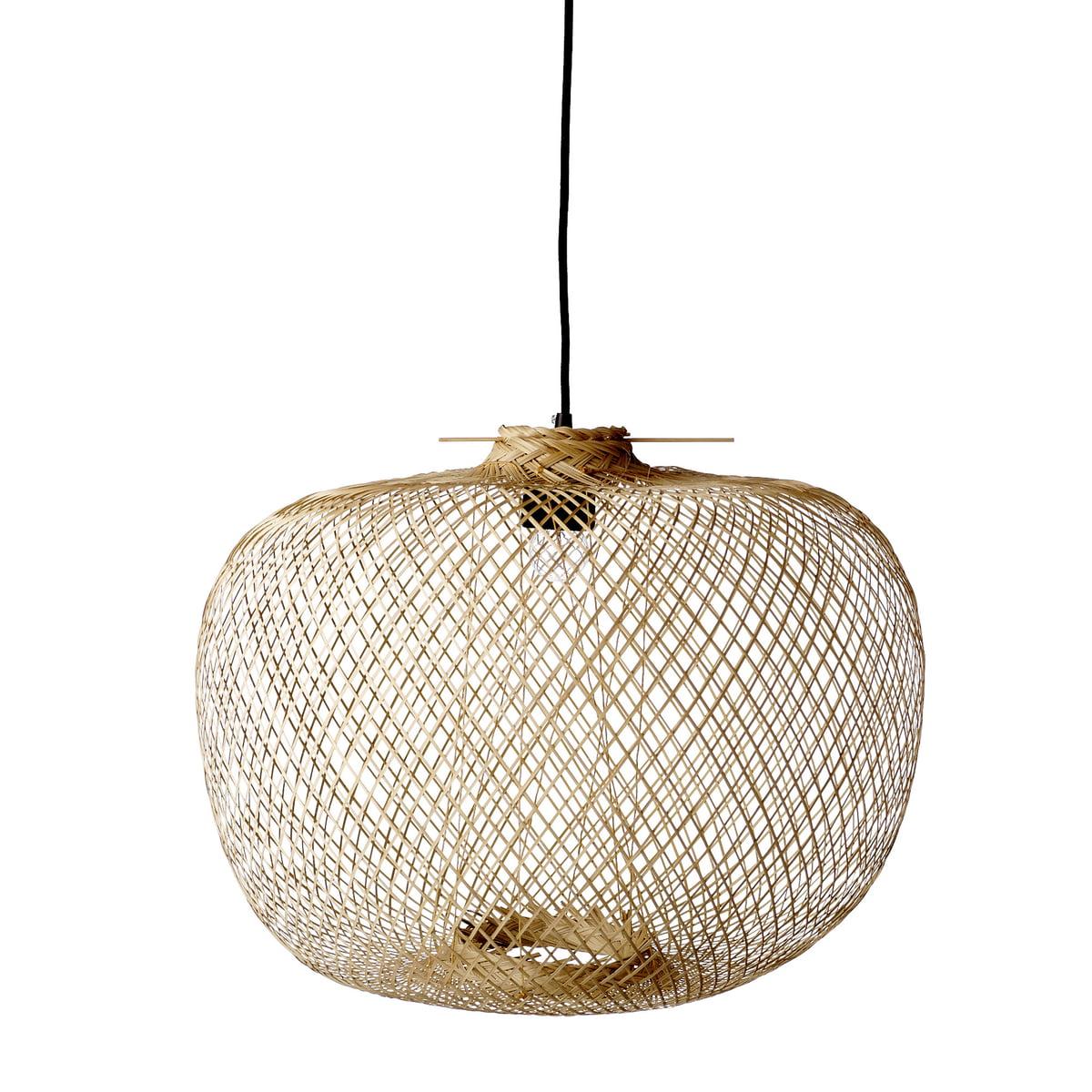 Bloomingville - Bambus Pendelleuchte, Ø 42 x H 30 cm