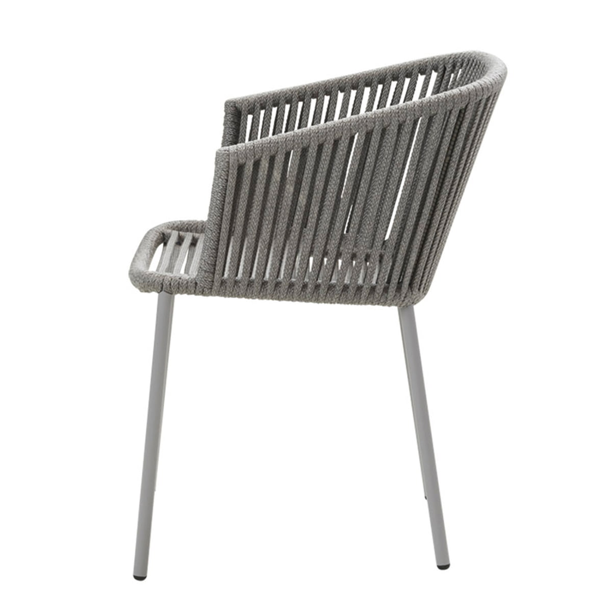 Cane-line - Moments Stuhl mit Armlehne (7440), Stapelbar, grau