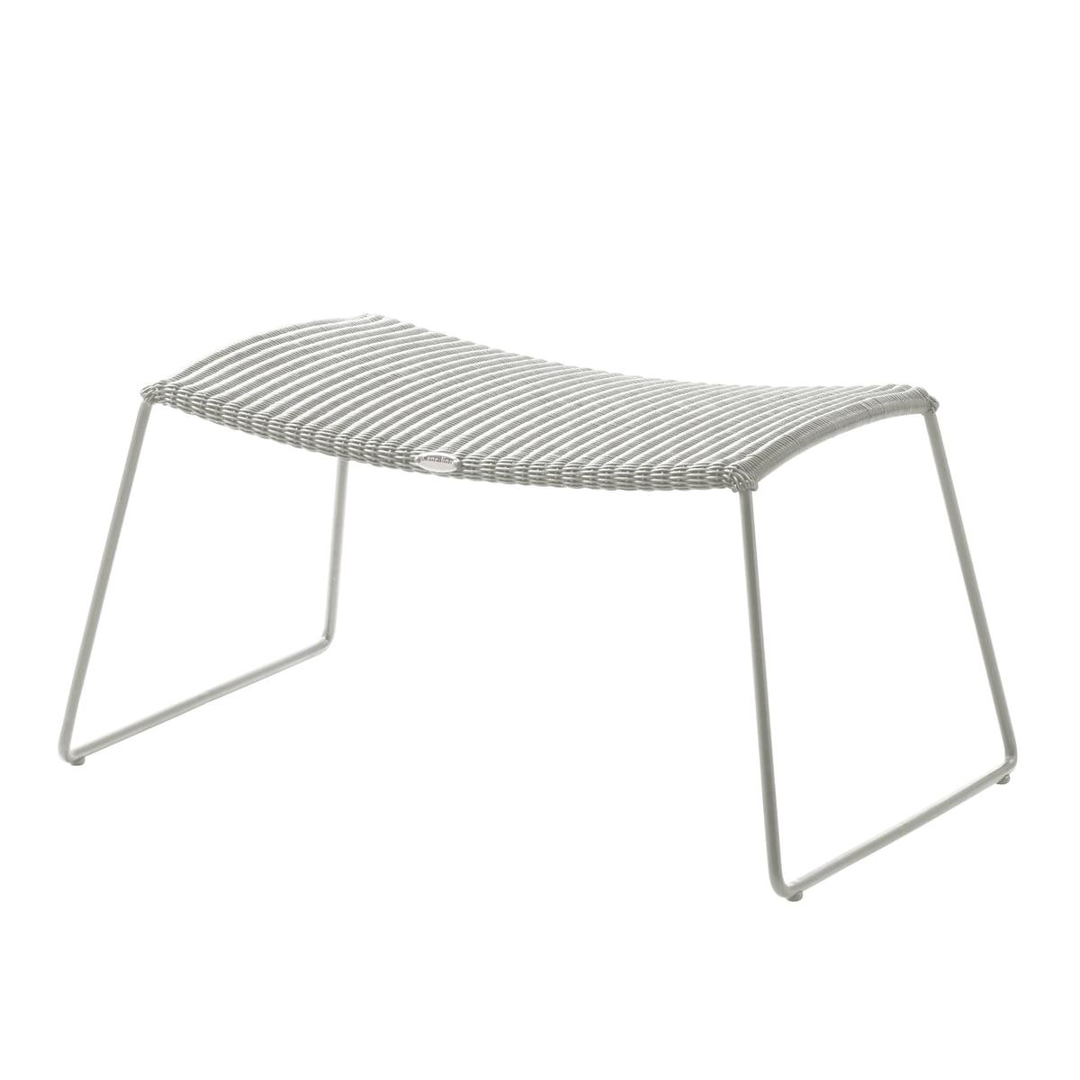 Cane-line - Breeze Hocker (5369), weiß-grau