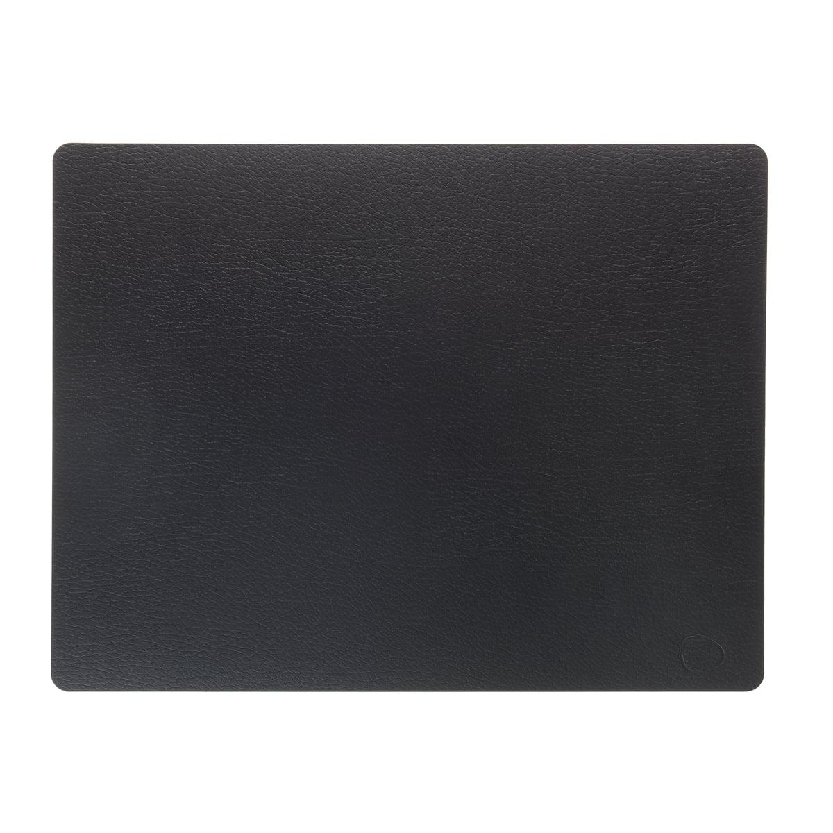 LindDNA - Tischset Square L 35 x 45 cm, Bull schwarz | Heimtextilien > Tischdecken und Co > Tisch-Sets | LIND DNA