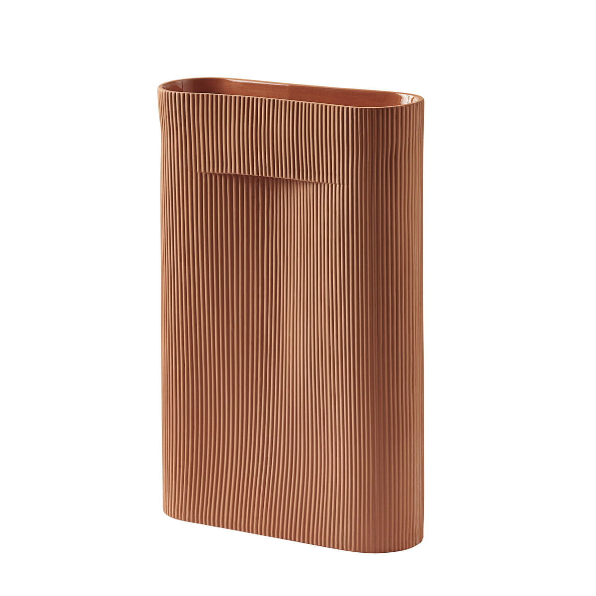Muuto - Ridge Bodenvase H 48,5 cm, terrakotta | Dekoration > Vasen > Bodenvasen | Muuto