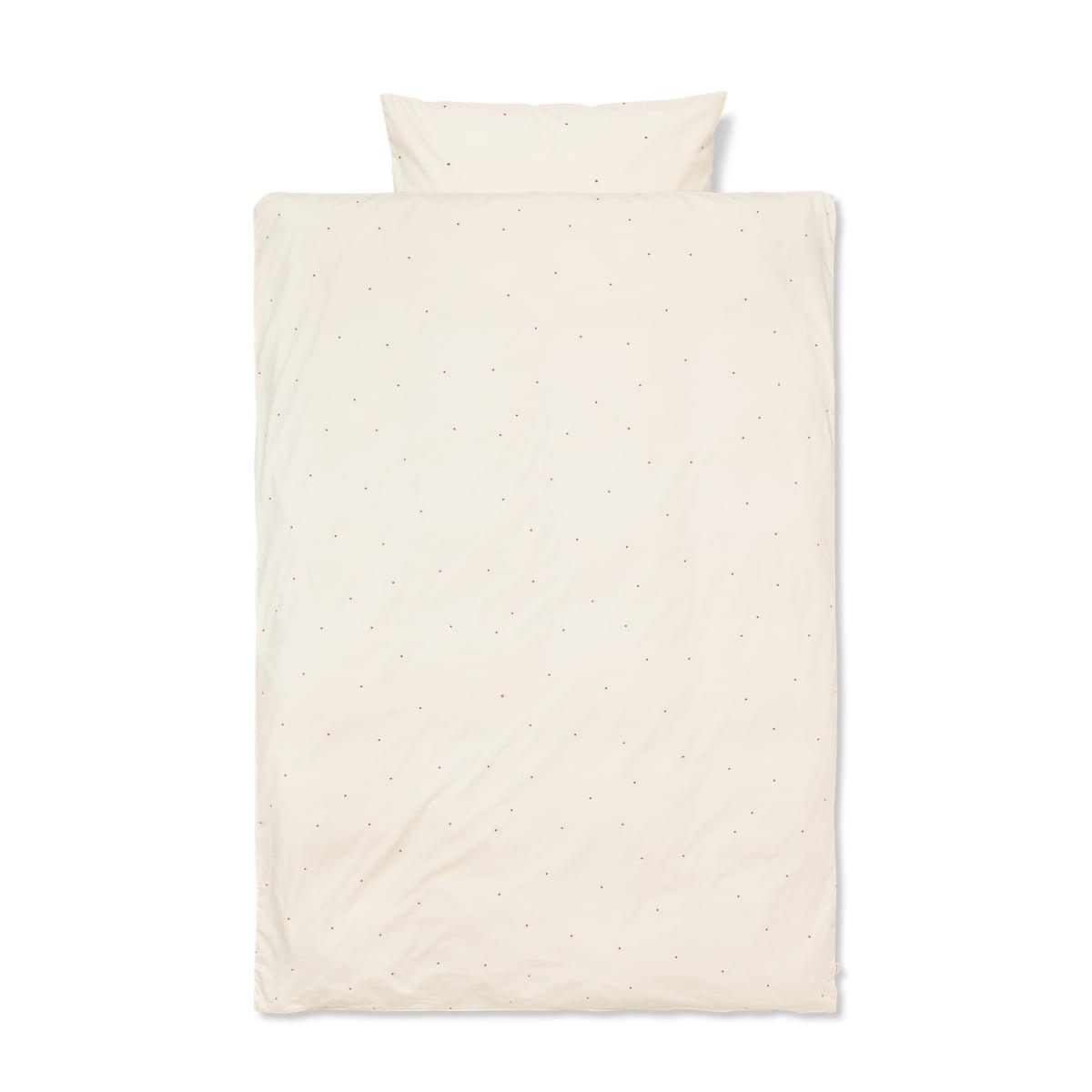 ferm LIVING - Dot Bettwäsche 140 x 200 cm / 63 x 60 cm (DK), off white