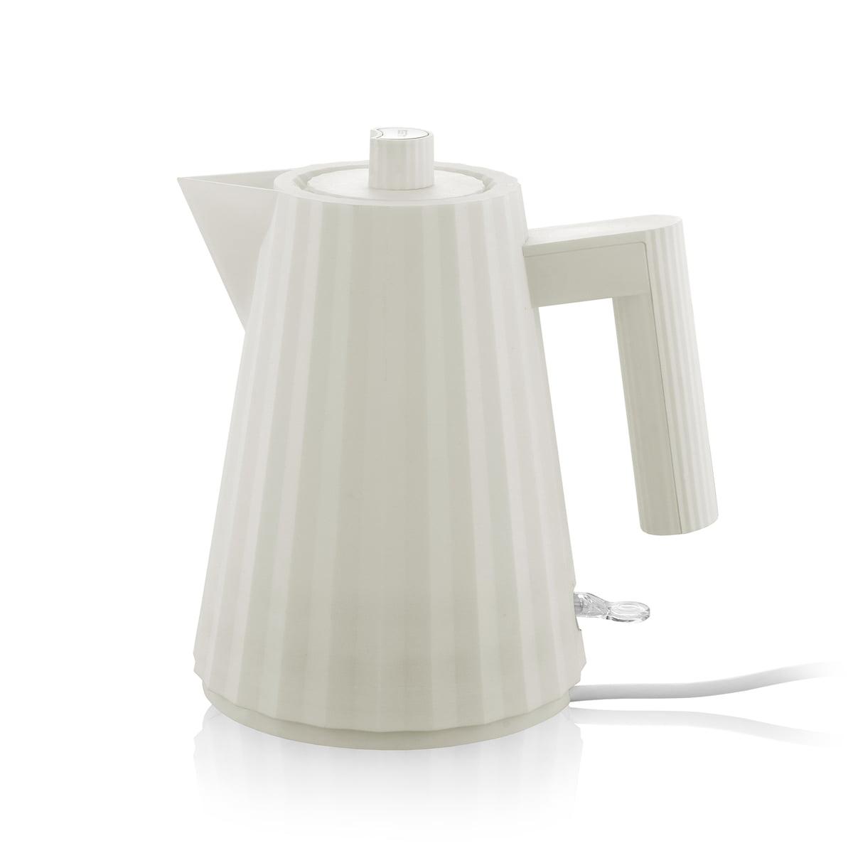Alessi - Plissé Wasserkocher 1 l, weiß