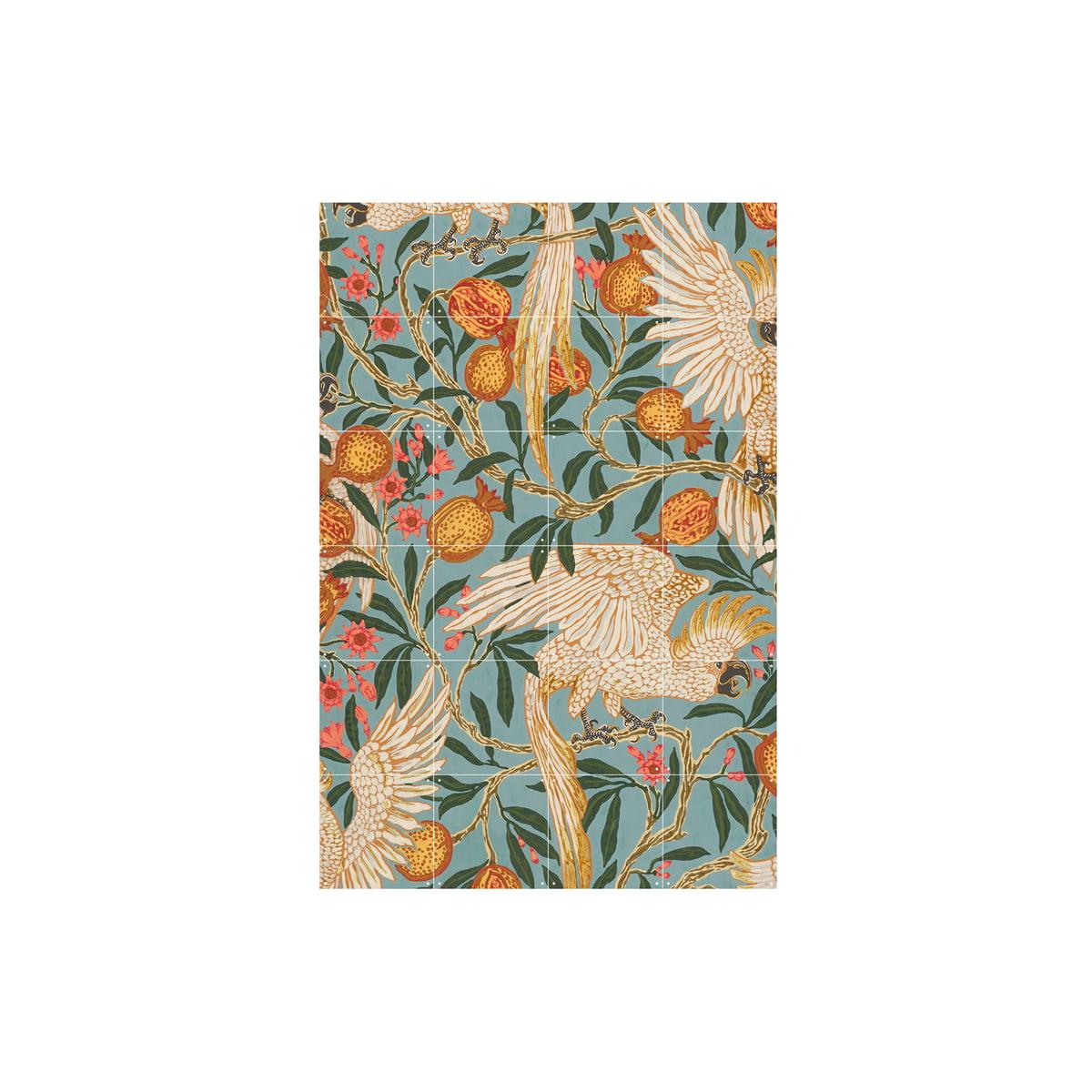 IXXI - Kakadu- und Granatapfeltapete (Crane), 80 x 120 cm günstig online kaufen